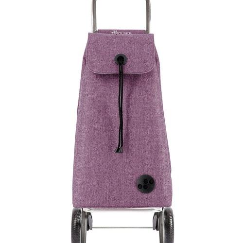 Shoppingvagn Rolser 2+2 Logic Tweed Imax Malva