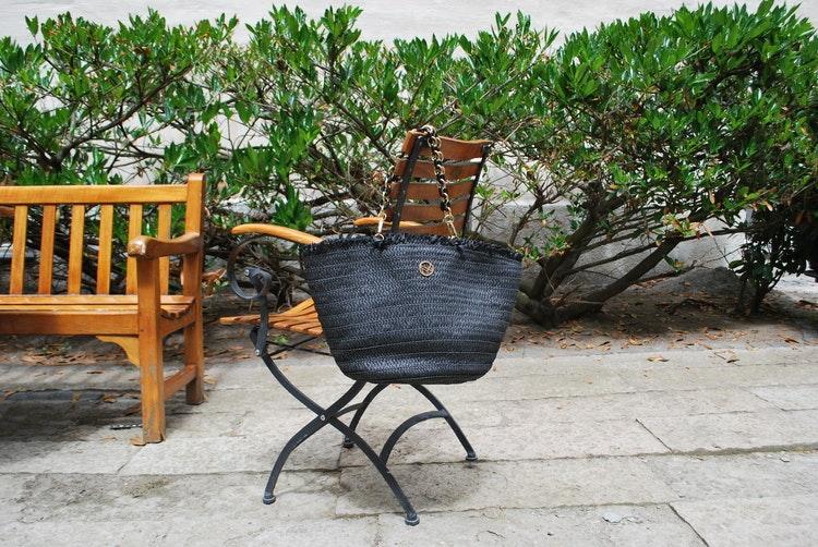 Stråväska NYPD 400375 svart stol