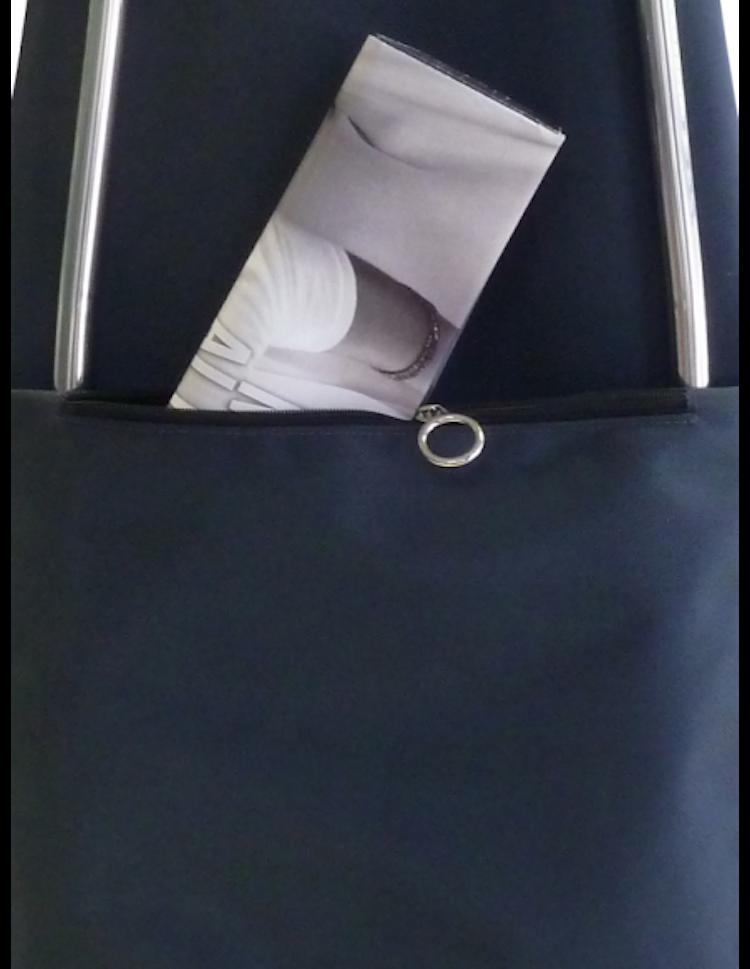 Shoppingvagn Rolser RG Imax Tweed Negro ficka bak