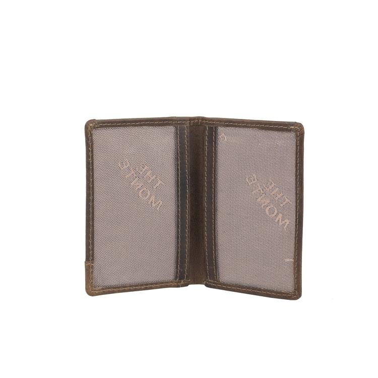 Kortfodral skinn brun The Monte 62845 RFID-säker