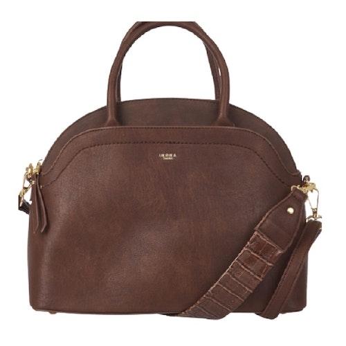 Handväska med axelrem brun halvmåne Ulrika Design