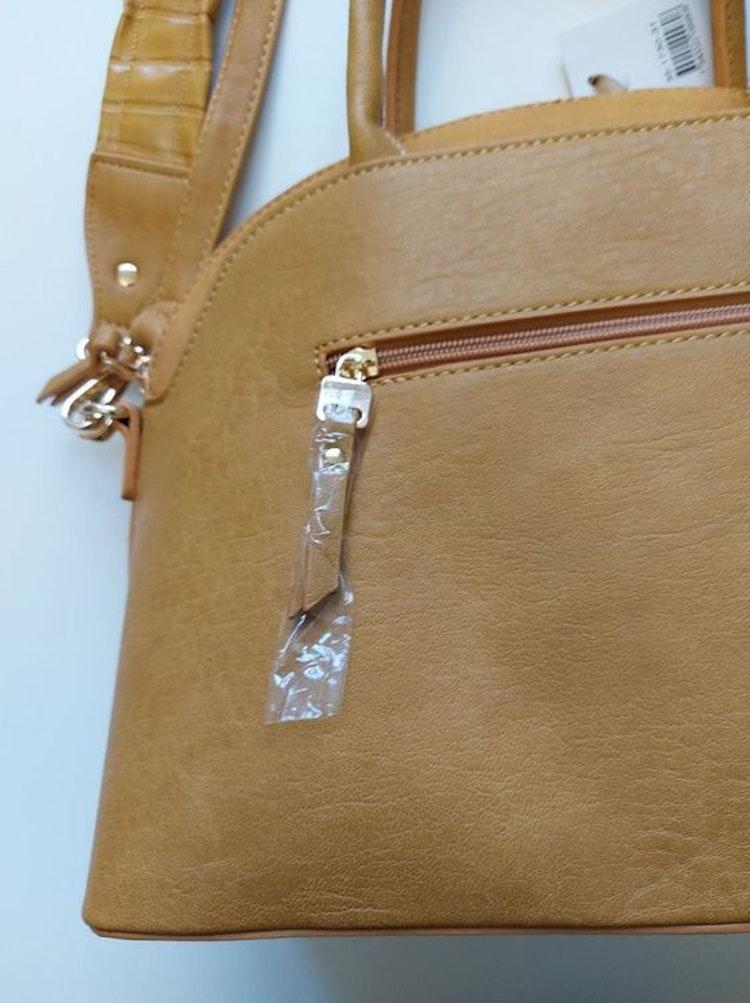 Handväska med axelrem gul halvmåne Ulrika Design 35-1730