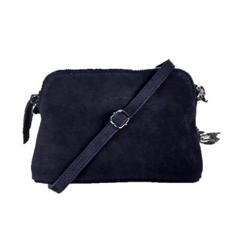 Axelväska halvmåne mocka svart Ulrika Design Bags4Fun.se