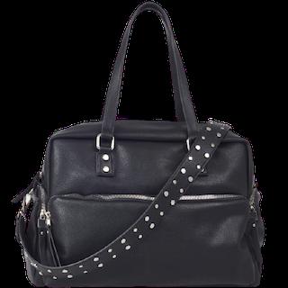 Handväska svart med handtag och axelrem Ulrika Design