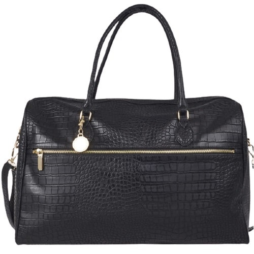 Weekend bag svart croco Ulrika Design
