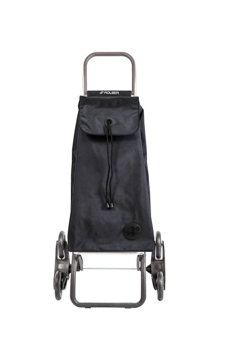 Shoppingvagn Rolser RD6 Logic Trappklättraren. Perfekt för dig som bot i hus utan hiss. Den är hopfällbar och klättrar lätt i trappor med full last. Svart