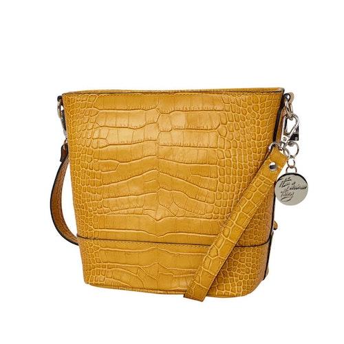 NYPD väska Axelväska Dam Anna quiltat lock Gul Bags4Fun.se