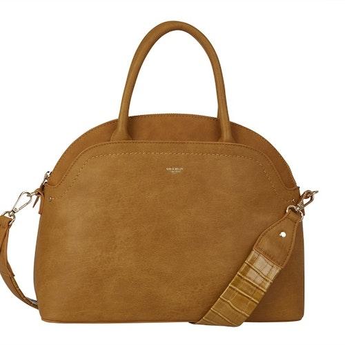Handväska med axelrem gul halvmåne Ulrika Design