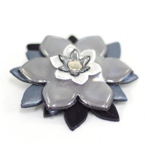 Reflexbrosch Blomma Silver Reflekterande Brosch