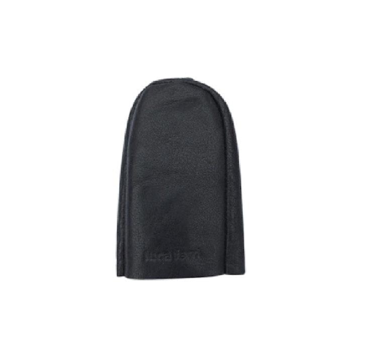 Nyckelfodral med slejf svart läder
