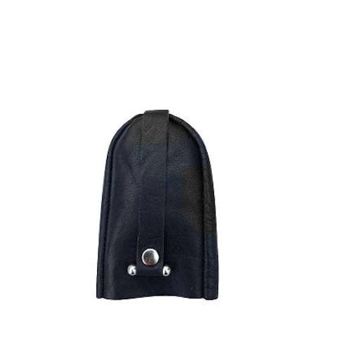 Nyckelfodral med slejf klock-modell svart