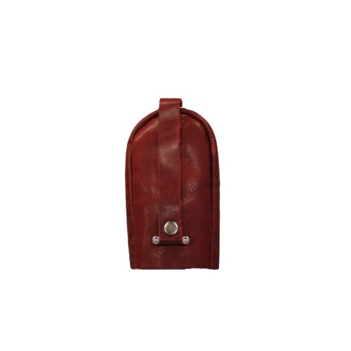 Nyckelfodral med slejf klock-modell röd