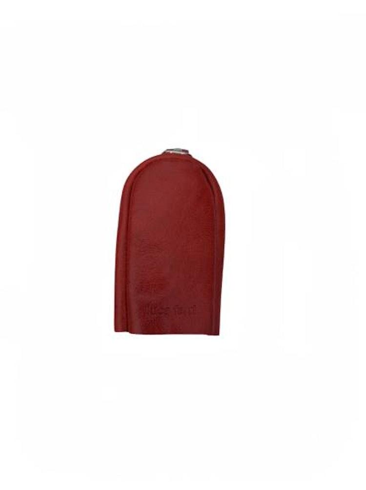 Nyckelfodral med slejf rött läder