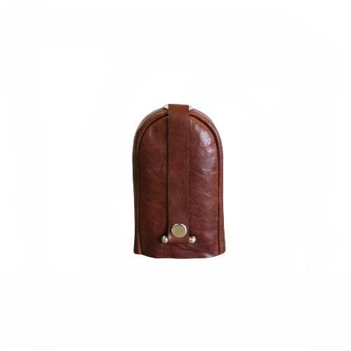 Nyckelfodral med slejf klock-modell brun