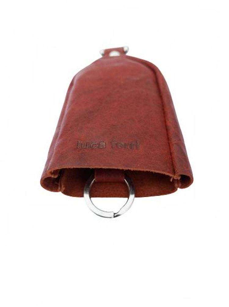 Nyckelfodral med slejf brunt läder