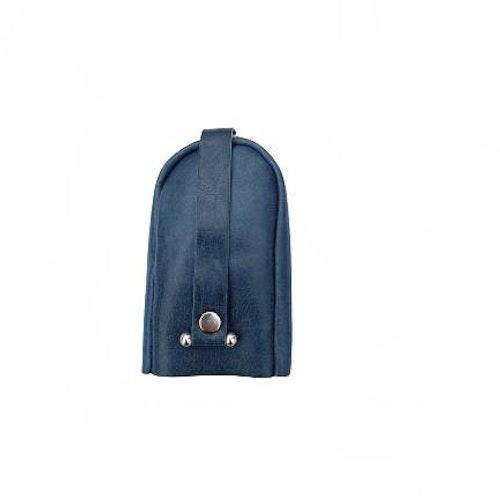 Nyckelfodral med slejf klock-modell blå