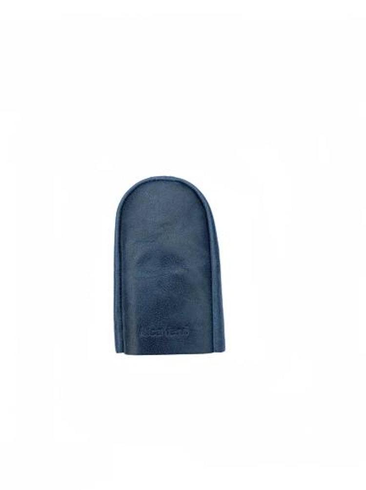 Nyckelfodral med slejf blått läder