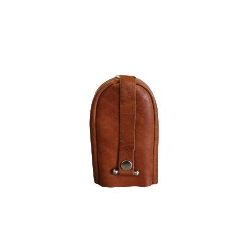 Nyckelfodral med slejf klock-modell cognac