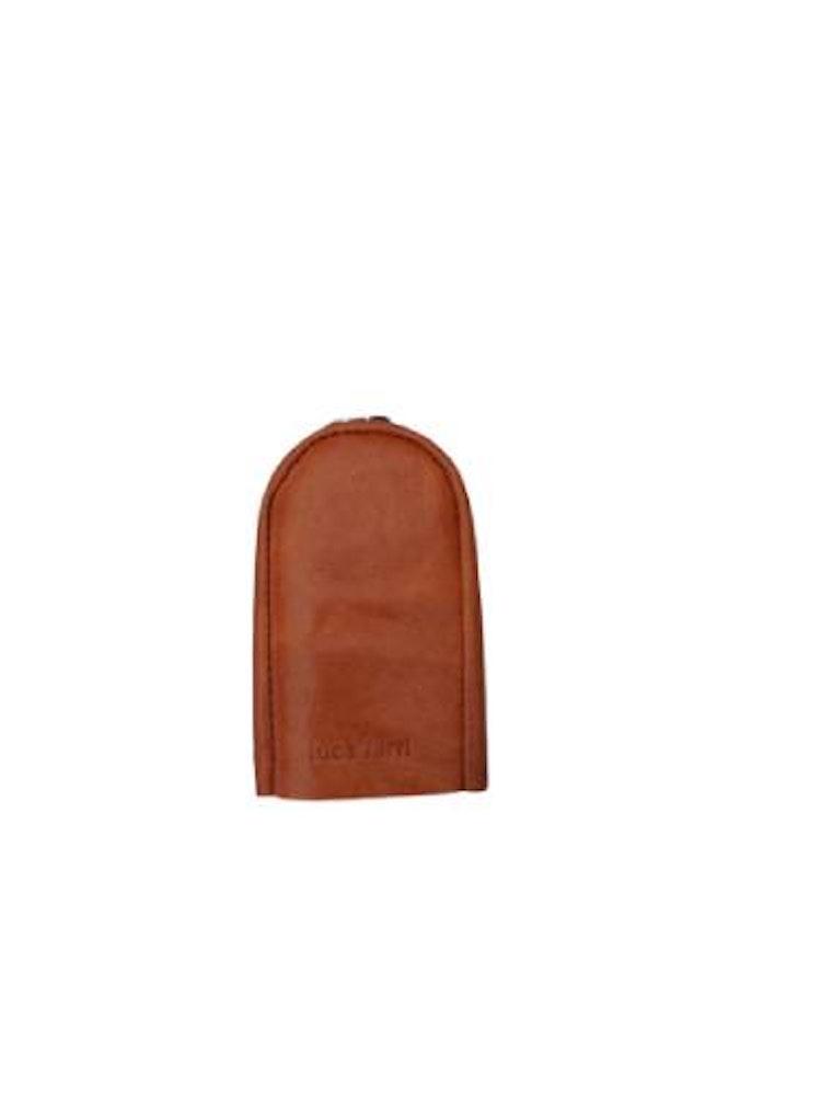 Nyckelfodral Klockmodell cognacs färgat läder