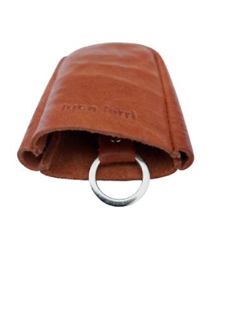 Nyckelfodral med slejf cognac färgat läder