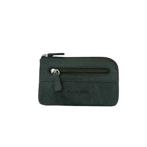Nyckelfodral Börs RFID-safe 1 ring i kedja grön