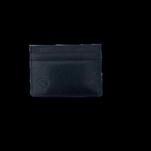 Kortfodral i skinn, färg svart, från Luca Ferri