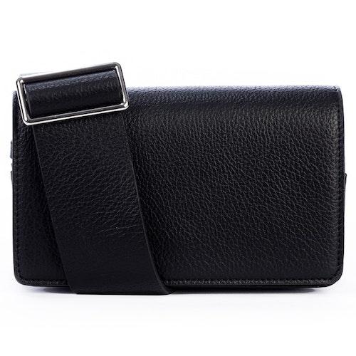 Axelväska clutch, oversize axelrem, svart, NYPD Fashion