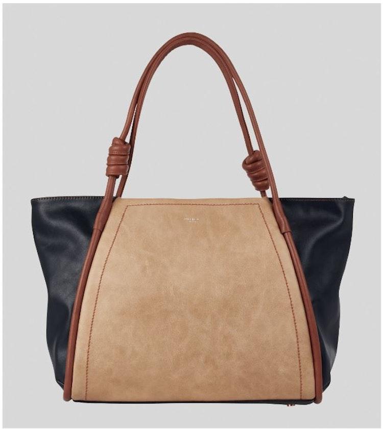 Handväska Knot beige/svart färgad Ulrika Design