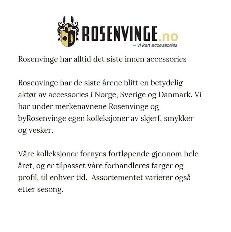 Axelväska Dam svart med dragkedja Rosenvinge