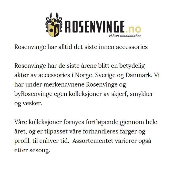 Axelväska Dam svart Love axelrem Rosenvinge