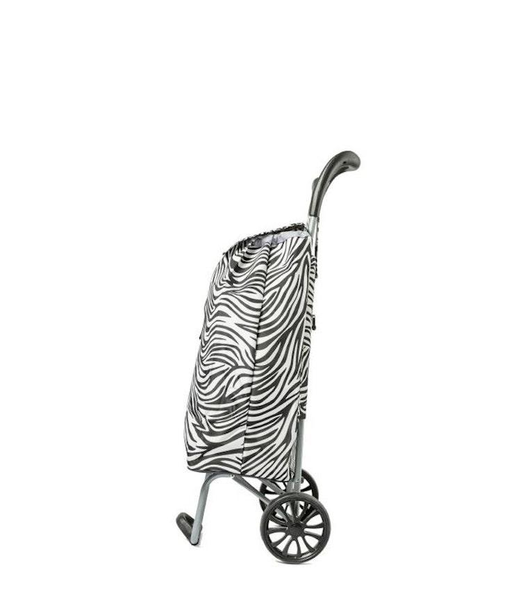 Shoppingvagn CityXShopper Zebra-svart/vit