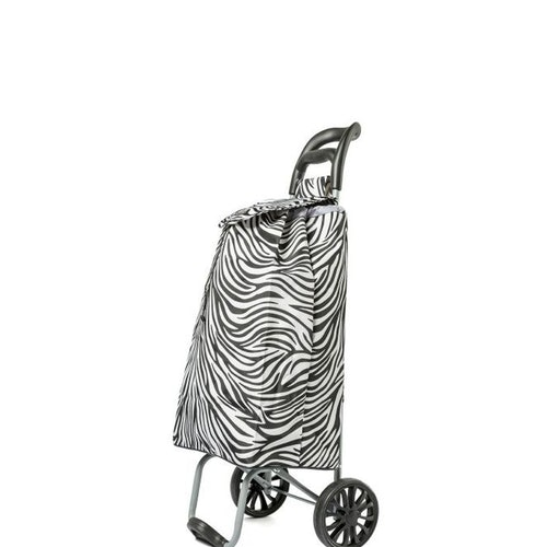 Shoppingvagn City X Shopper Zebra-svart/vit