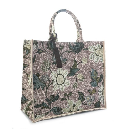 Shoppingkasse Flower Linen, Dusty Pink, Ceannis