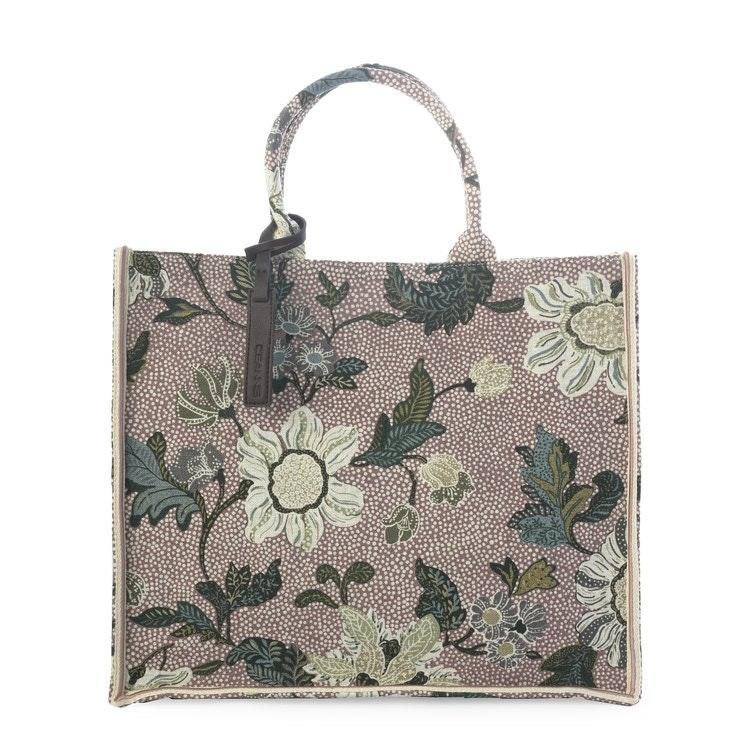 SHOPPER DUSTY PINK FLOWER LINEN CEANNIS