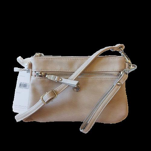 Axelväska beige handledsrem + axelrem, Basic Ulrika Design 8724