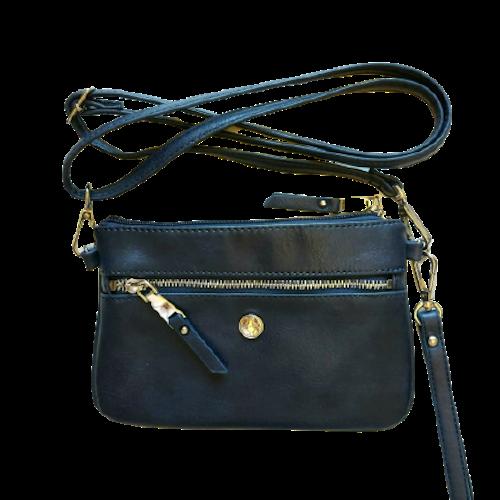 Axelväska blå handledsrem + axelrem, Basic Ulrika Design 8724