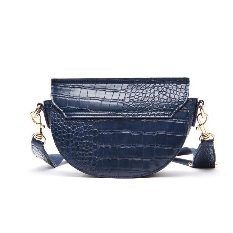 Väska Dam croco liknande mönsterMarinblå