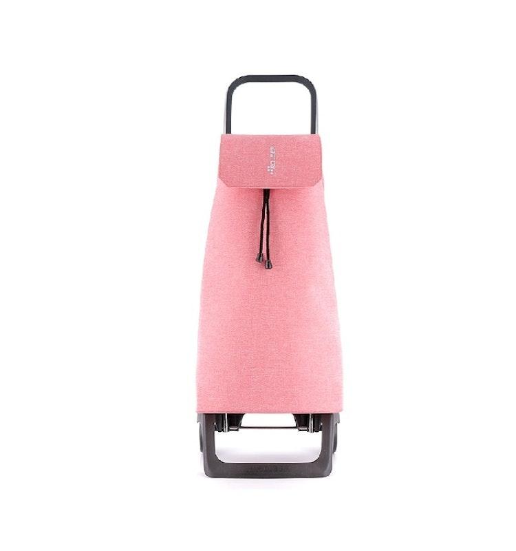 Shoppingvagn från Rolser - Joy Jet med väska i tyget Tweed och färg rosa