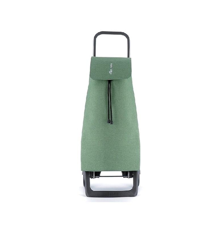 Dramaten väska på två hjul hopfällbar nederdel med väska i tyget Jet Tweed Mörk Grön