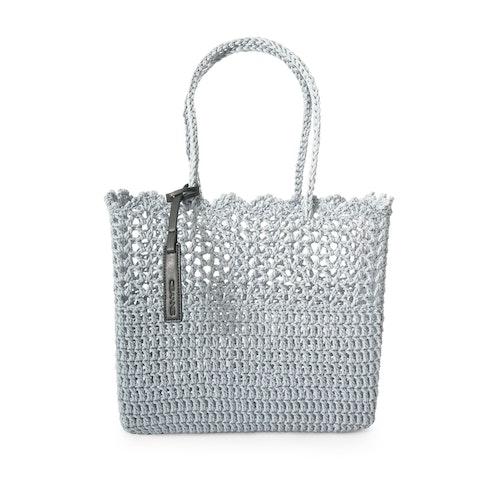 Virkad korg väska Crochet Basket, Ljusblå, Ceannis
