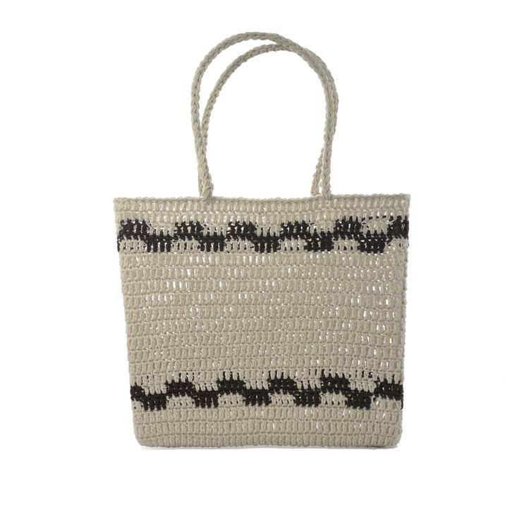 Virkad korg väska Crochet Basket, Natur från Ceannis