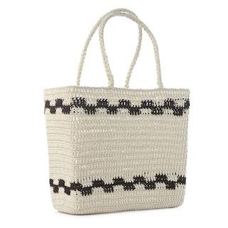 Virkad korg väska Crochet Basket, Natur, Ceannis