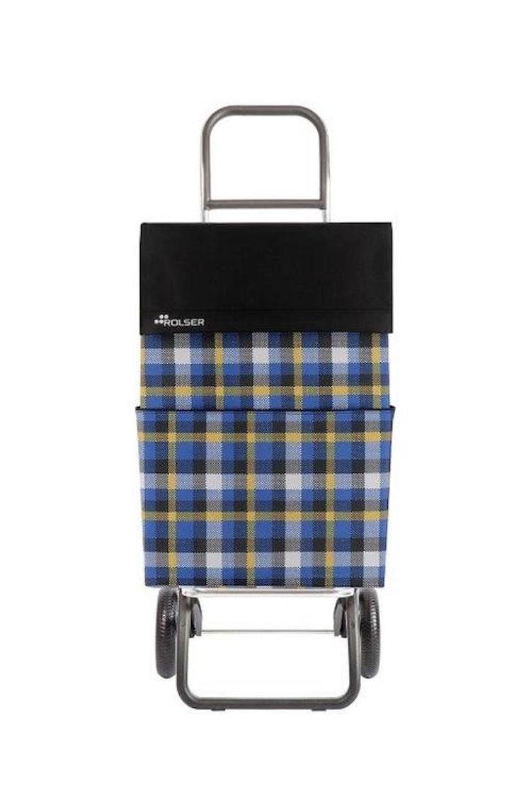 Shoppingvagn Rolser RG Scottish svart fyrkantig Retro väska