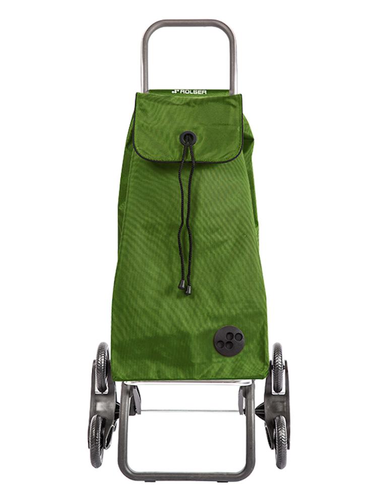 Shoppingvagn Rolser RD6 Logic Trappklättraren. Perfekt för dig som bot i hus utan hiss. Den är hopfällbar och klättrar lätt i trappor med full last. Mörkgrön