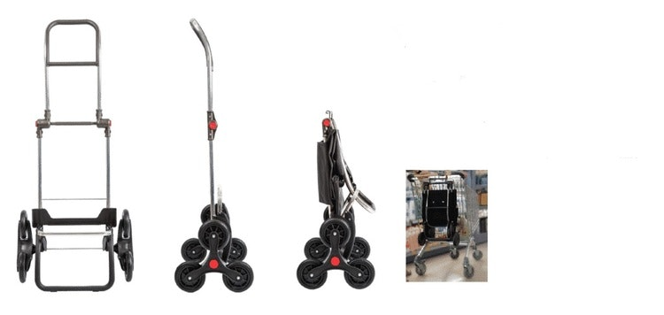 Trappklättrande shoppingvagn Rolser ljusgrön lime