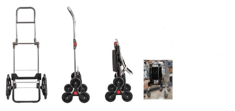 Trappklättrande shoppingvagn Rolser vinröd Bassi