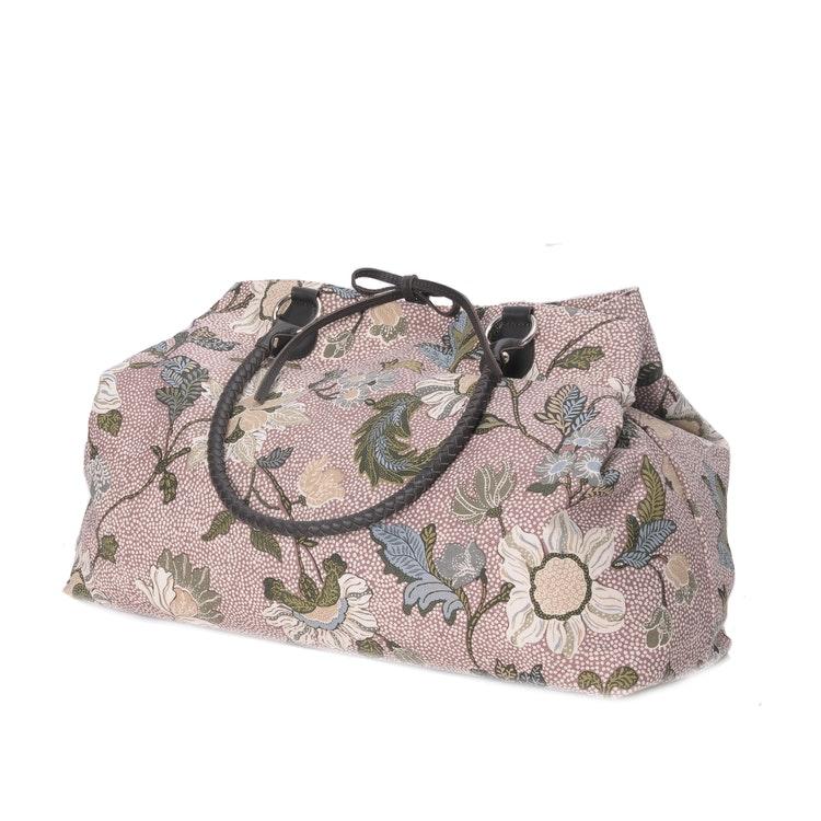 Weekendbag i tyg Flower Linen, Dusty Pink från Ceannis