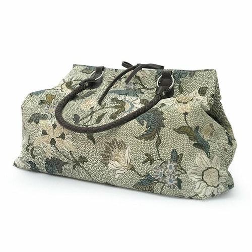 Weekendbag Flower Linen, Soft Green, Ceannis