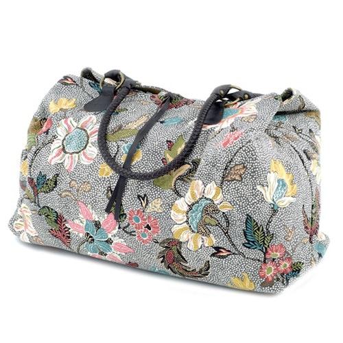 Weekendbag Flower Linen, Grey, Ceannis