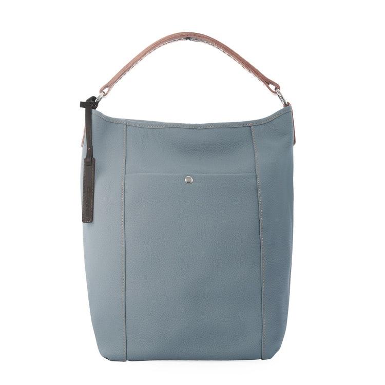 CEANNIS BUCKET BAG DUSTY BLUE GRAINED LEATHER